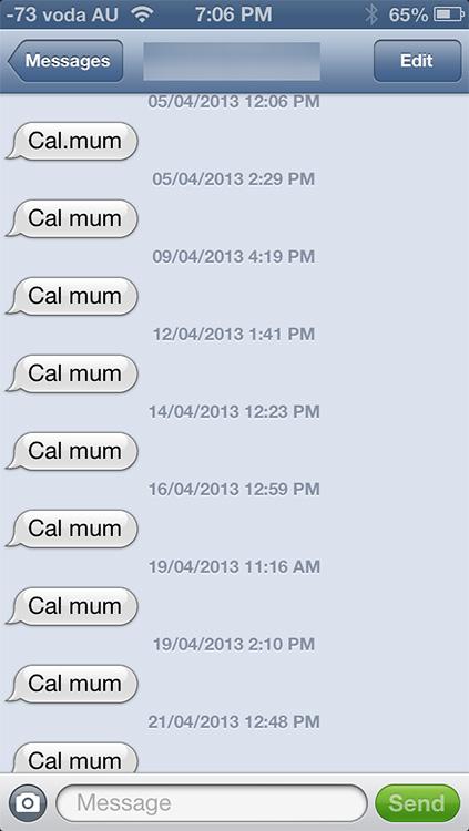 Mum Text